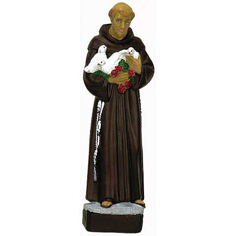 Statua in materiale infrangibile dipinta a mano cm 60 - San Francesco
