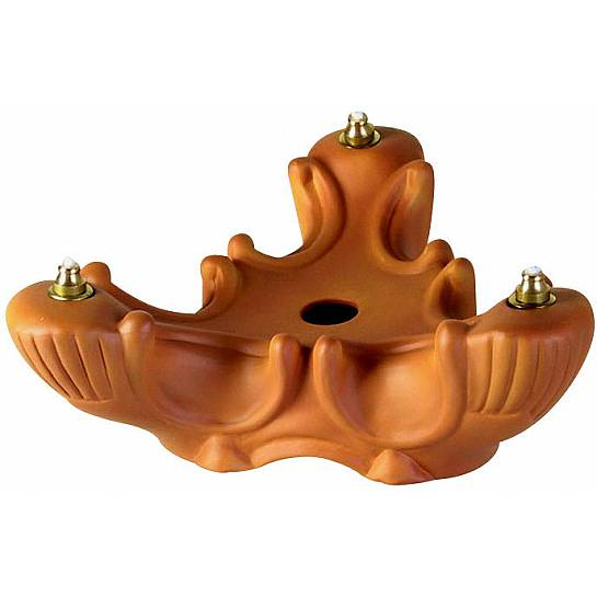 Triade porcellana color terracotta - 20 cm
