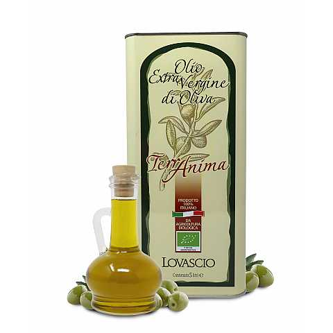 Olio extravergine d'oliva biologico, 100% italiano, in latta decorata, 5 lt