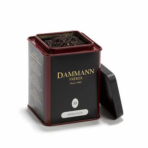Dammann Assam G.F.O.P (Golden Flowery Orange Pekoe)  10 - Tè nero dell'India, bella foglia intera, 100 grammi, Dammann Frères